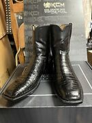 Lucchese Classic Mens Short Black Crocodile Boots 11.5 D 2,500 Made In Usa New