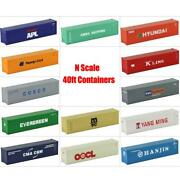 C15008 Model Trains 1pc N Scale 1160 40ft Shipping Containers 1160 N Scale