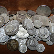 90 Silver - 6 Face Usa Coins Lot - Half Dollars Quarters Dimes Out Of Circ Mix