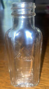 Vintage Jo-cur Hair Tonic Bottle Embossed 1930s Made In Usa On Bottom