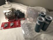 Large Lot Of New Christmas Decorations And Ornaments Crystal Teal And Antique Gold