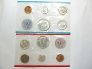 1964 P And D Us Mint Uncirculated 10 Coin 90 Silver Mint Set W/ogp - 9700-3