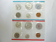1964 P And D Us Mint Uncirculated 10 Coin 90 Silver Mint Set W/ogp - 9700-2