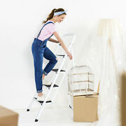 4 Steps Ladder Folding Anti-slip Safety Tread Industrial Use 300lbs Load Stable