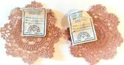 Mauve Rose Crocheted 5 Doilies Set Of 2 New