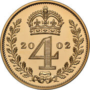2002 Elizabeth Ii Maundy Gold 4 Coin Set Ngc 2019 And 2020 Best In Category