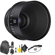 Xeen By Rokinon 50mm T1.5 For Pl + Deluxe Lens Cleaning Kit
