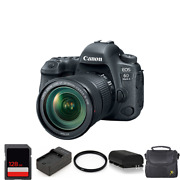 Canon Eos 6d Mark Ii Dslr Camera With 24-105mm + 2 Batteries 128gb And More