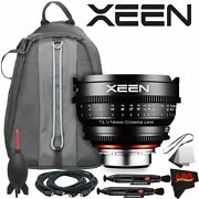 Rokinon Xeen 14mm T3.1 Lens For Canon Ef Mount With Professional Lens Kit