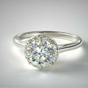 Round Cut 0.90 Ct Platinum Real Diamond Wedding Ring For Womenand039s Size 5 6 7.5 8