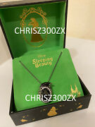 Disney Sleeping Beauty Maleficent Crystal Dragon Silver Pendant Necklace + Chain