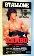 Rambo First Blood Part 2 Vhs Factory Sealed Brand New Sylvester Stallone