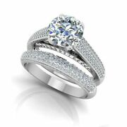 1.02 Ct Solitaire Real Diamond Wedding Band Set 950 Platinum Ring Size 5 6 7 9