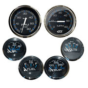 Faria Chesapeake Black W/stainless Steel Bezel Boxed Set Of 6 - Speed Tach ...