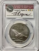 2020 100 One-ounce Platinum American Eagle Pcgs Ms69 Thomas D. Rogers