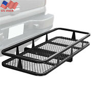 59x20 Cargo Carrier Rack Extension Basket Foldable Luggage Holder 2hitch Mount
