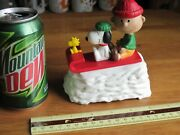 Snoopy / Peanuts Willitts Music Box 1991 Signature Series Plays We Wish You A