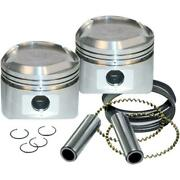 Sands Cycle Forged Piston Kit For 89ci. Stroker Kit - Standard Bore 3 1/2in. -