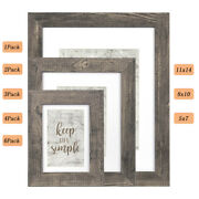 Wood Picture Photo Frame Set Wall Mounting Poster Display 4x6 5x7 8x10 11x14