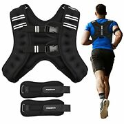 Pacearth Weighted Vest With Ankle/wrist Weights 20lbs Adjustable Body Weight ...