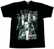 Vintage Respect The Family T-shirt Godfather Scarface Pablo Escobar El Chapo Tee
