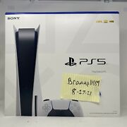 New Playstation 5 Bluray Disc Edition Console Ps5 White Console System In Hand
