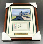 Arnold Palmer Autographed Signed Psa Coa Index Card Framed With 8x10 Photo