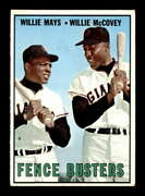 1967 Topps 423 Willie Mays/willie Mccovey Fence Busters Ex X2226272