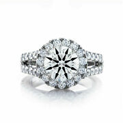 Solid 18k White Gold Band 1.10 Carat Real Round Diamond Womenand039s Ring Size 6 7 8