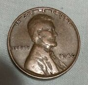 1940 No Mint Mark Wheat Penny Circulated Rare Strike And Toning Error Defect