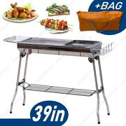 39 Portable Folding Charcoal Bbq Grill Outdoor Camping Picnic Cooker Garden Bag