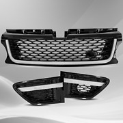 For 2010-2013 Range Rover Sport Grille Air Side Vents Autobiography Black Chrome
