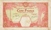 French West Africa-dakar100 Francs Banknote24.9.1926 Fine Condition Cat11b-b