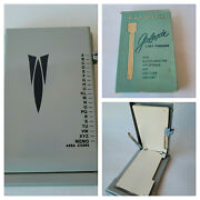 Vintage 1950s Zephyr Autodex Galaxie List Finder With Box And Pencil Model S-100