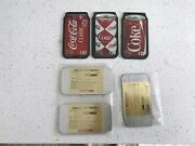 Prroofs 2/10 Gold } Cocacola Aluminum Vip Can Set 3 Trading Phonecards 1996
