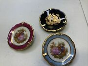Lot Of Three Limoges Miniature Plates France No Chips