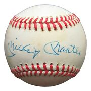 Mickey Mantle Signed Autographed Baseball Onl Ball Yankees W/ Case Jsa Bb27070