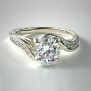 Christmas Sale Real Diamond Ring Round 0.71 Ct 14k Solid White Gold Size 5 6 7 8