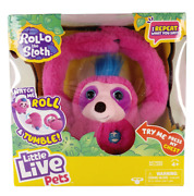Little Live Pets Rollo The Sloth Interactive Plush - Talking Toy - Pink New