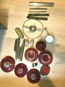 1940s Ford/lincoln Car Parts 19 Items In Lot Vintage Headlights Signals +