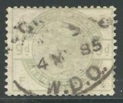 Eng_27 - England. 9 Pence 1883 Queen Victoria Stamp. Used. Scott 106