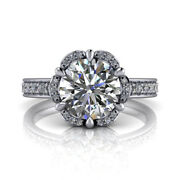 0.80 Ct Certified Real Diamond Wedding Rings 18k Solid White Gold Size M N O P