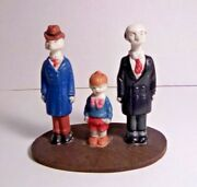 Andy Gump, Chester, Uncle Bim 1930's Bisque Figurines Sidney Smith Comic Strip