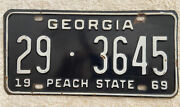 Goofd Solid 1969 Georgia License Plate. See My Other Plates