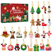 Advent Calendar W/24 Hanging Ornaments Colorful Christmas Tree Hanging Banquet