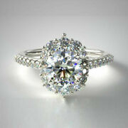 1.00 Ct Beautiful Real Diamond Engagement Ring 14k Solid White Gold Size 6 7 8 9