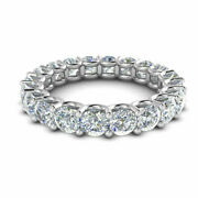 Real 2.00 Ct Diamond Eternity Anniversary Band 14k Solid White Gold Size 5 6.5 7