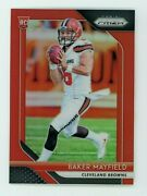 2018 Panini Prizm Baker Mayfield Rc No.201 Red Retail Parallel Refractor Rookie