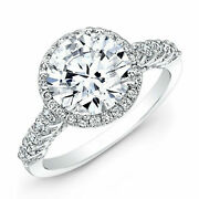 Round Cut 1.52 Ct Real Diamond Womenand039s Engagement Ring 950 Platinum Size 5 6 7