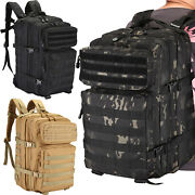 45l Tactical Army Backpack Assault Pack Military Outdoor Camping Rucksack Bag